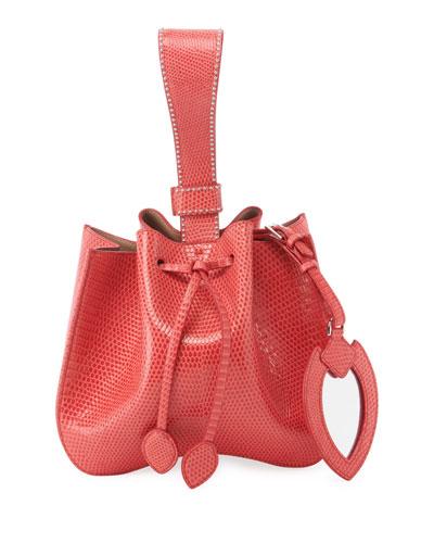 Rose Marie Small Lizardskin Bucket Bag
