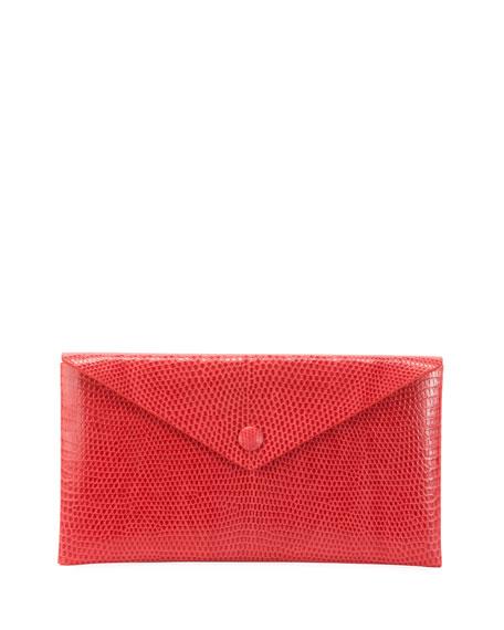 ALAIA Louise Lizard Envelope Clutch Bag