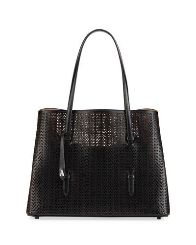 7801a8553df3 Quick Look. ALAIA · Mina Medium Laser-Cut Tote Bag