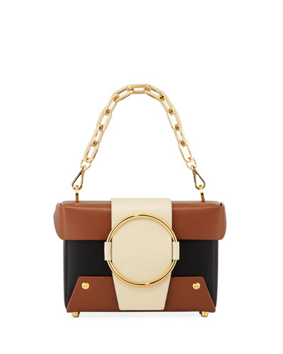 Asher Colorblock Crossbody Bag, Black