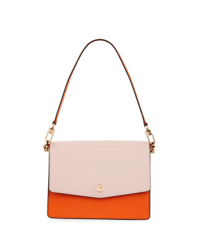 Robinson Convertible Colorblock Leather Shoulder Bag