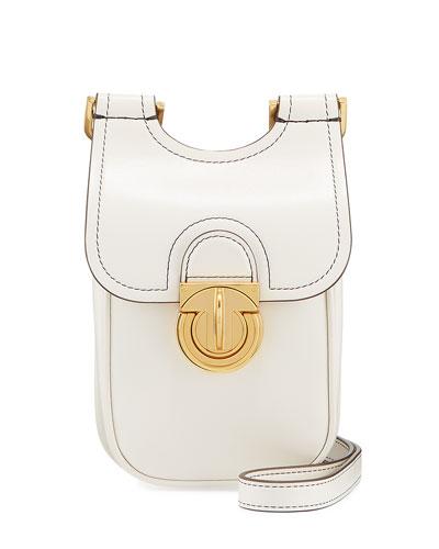 James Leather Smartphone Crossbody Bag