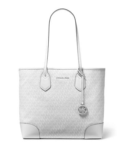 Eva Large Monogrammed Tote Bag - Silver Hardware