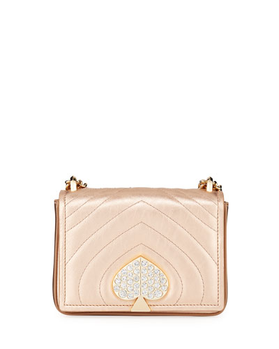 amelia small jeweled leather shoulder bag