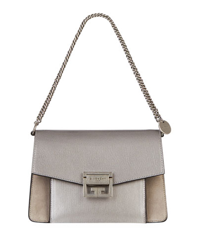 GV3 Small Metallic Leather & Suede Shoulder Bag