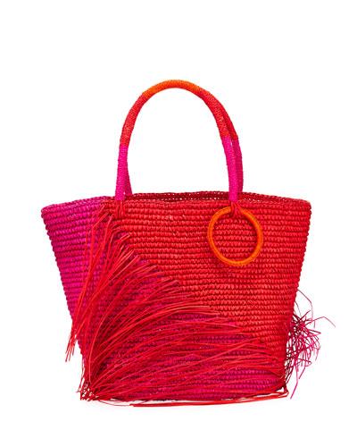 Fraye Two-Tone Medium Tote Bag