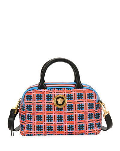 Icon Quilted Clash Satchel Bag