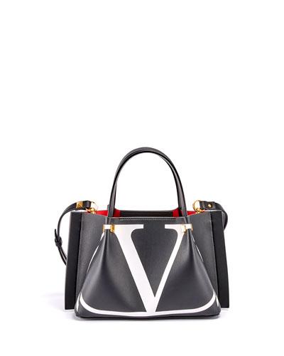 VLOGO Escape Small Calf Leather Tote Bag
