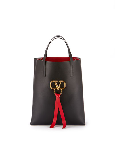 55903a8f921a Quick Look. Valentino Garavani · Vee Ring Leather Tote Bag. Available in  Black