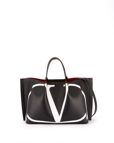 VLOGO Escape Medium Leather Tote Bag