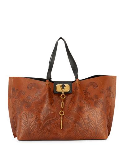 5b58df4d151b Brown Zip Tote Bag | Neiman Marcus