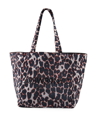 42dbdd6469df Quick Look. CALVIN KLEIN 205W39NYC · 205 Oversized Leopard-Print Tote Bag