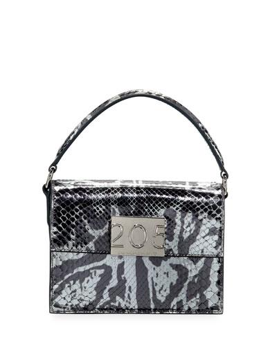 Bonnie Small Python Top-Handle Crossbody Bag