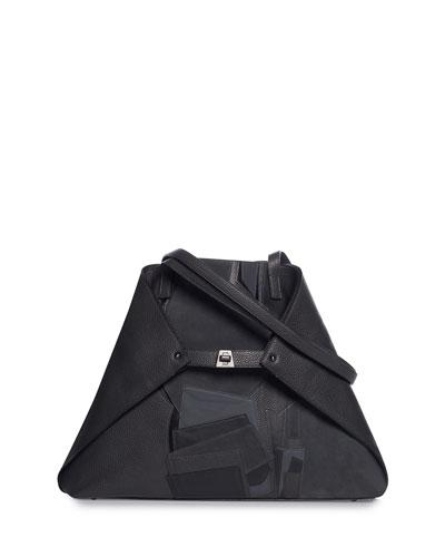 Ai Medium Collage Soft Shoulder Tote Bag