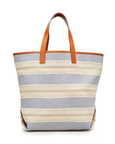 Striped Travel Tote Bag