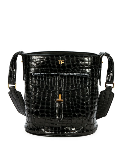 Quick Look. TOM FORD · Embossed Leather Bucket Bag. Available in Black 774818a4b3717