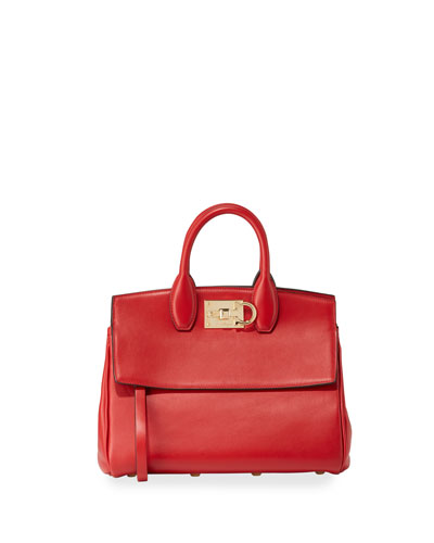 The Studio Medium Leather Satchel Bag