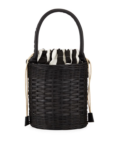 Katrina Wicker Bucket Bag