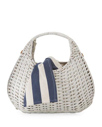 Sam Pear-Shaped Wicker Tote Bag