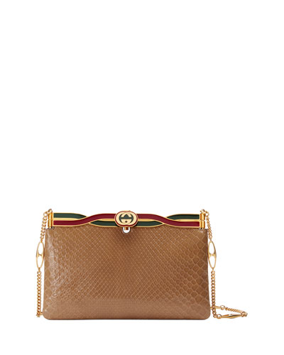 3e135dc3b4e Quick Look. Gucci · Broadway Snakeskin Evening Clutch Bag
