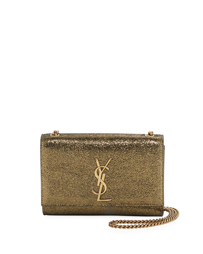 d6475a286 Quick Look. Saint Laurent · Kate Monogram YSL Small Metallic Leather Crossbody  Bag