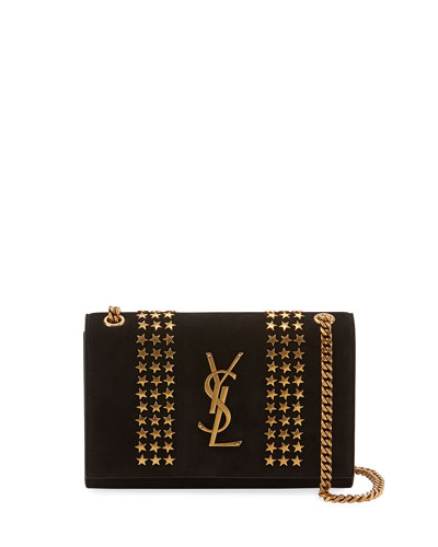 Kate Monogram YSL Small Star-Studded Suede Chain Crossbody Bag