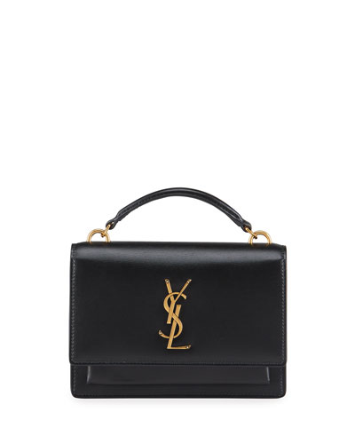 Sunset YSL Monogram Wallet on Chain - Golden Hardware
