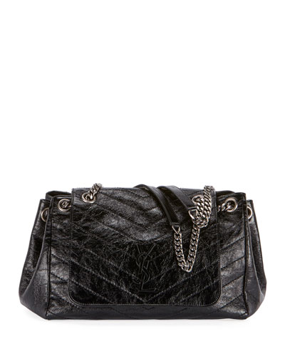 Nolita Medium Monogram YSL Double Chain Shoulder Bag
