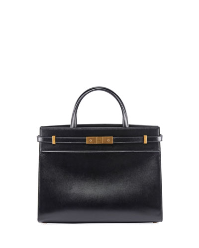 Manhattan Small Leather Shoulder Tote Bag