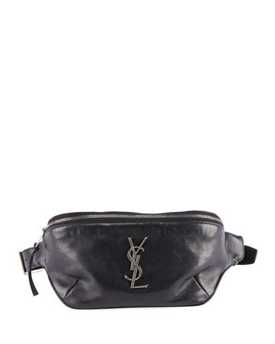 YSL Monogram Curved Zip-Top Belt Bag