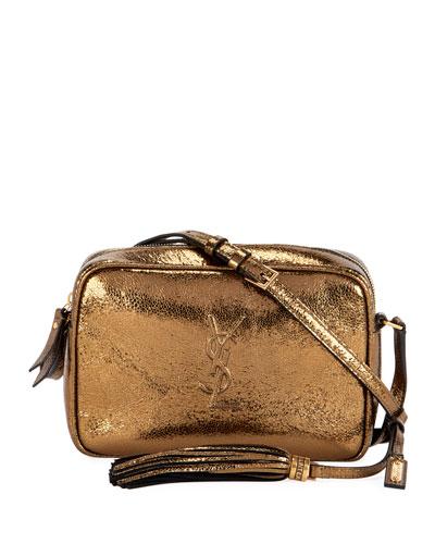 Lou Monogram YSL Medium Metallic Crossbody Bag