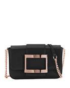 Roger Vivier Tres Vivier Micro Leather Clutch Bag