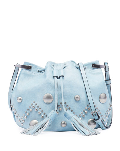 Kylio Jean-Like Studded Crossbody Bag
