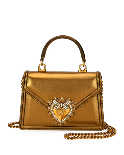 12c178e0b2142 Quick Look. Dolce   Gabbana · Devotion Mini Metallic Leather Top-Handle Bag.  Available in Gold