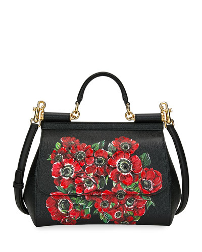 Quick Look. Dolce   Gabbana · Sicily Medium Anemoni Flower Shoulder Bag.  Available in Black Pattern 3bb8039cc12a9