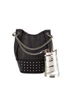 Balmain Polygon Bracelet & Studded Bucket Bag