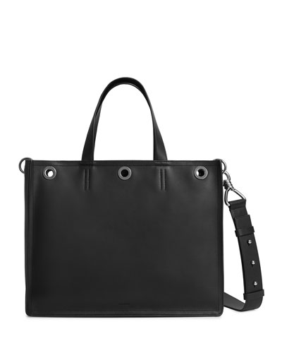 Captain East/West Medium Leather Tote Bag