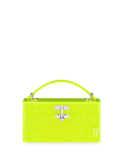 Mini Trunk Acrylic Top-Handle Bag