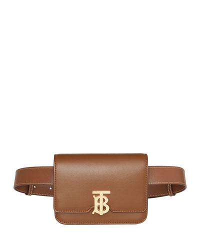 TB Monogram Leather Belt Bag