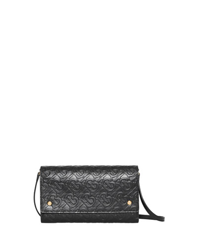 Hazelmere Logo-Embossed Crossbody Bag, Black