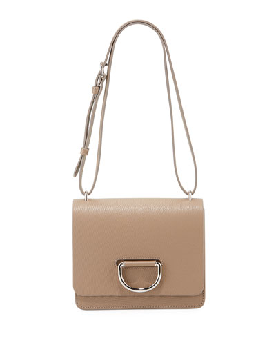 Small D-Ring Leather Shoulder Bag