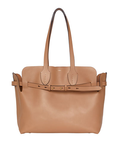 Medium Soft Belted Shoulder Tote Bag