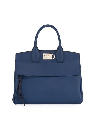Studio Medium Leather Satchel Bag