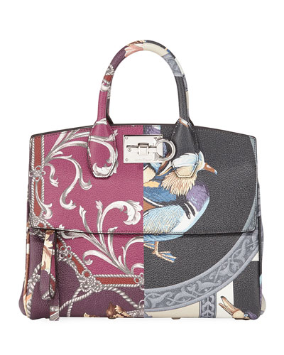Studio Piccolo Medium Printed Satchel Bag