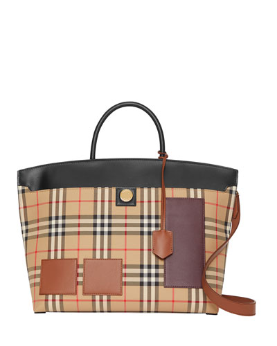 Society Medium Check Tote Bag