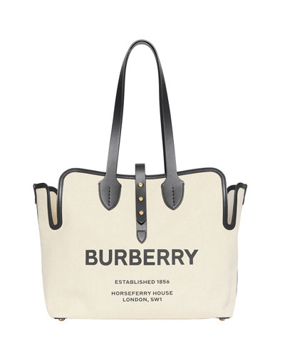 Medium Soft Belted Canvas Tote Bag