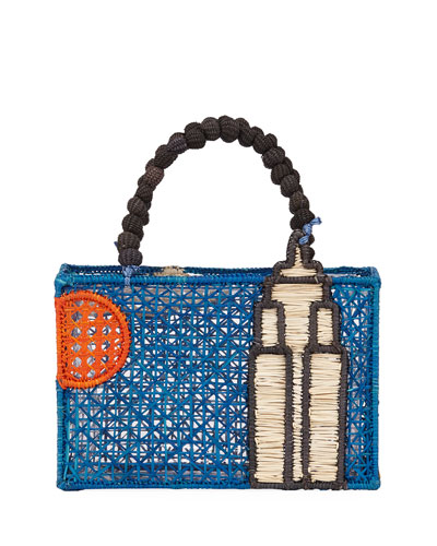 43a67a71cf Quick Look. Mercedes Salazar · Empire State Building Top Handle Bag.  Available in Blue