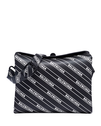 Small Logo-Print Flap Shoulder Bag