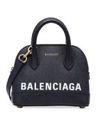 Balenciaga Ville XXS AJ Top-Handle Bag with Logo