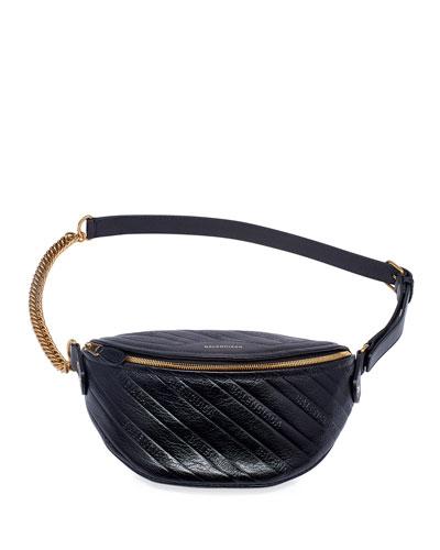 Souvenir XXS AJ Shiny Logo Embossed Fanny Pack Bag